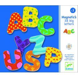 Drevené magnetky Veľké písmená 38 ks