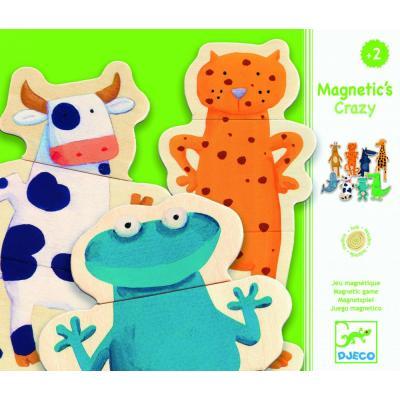 Drevené puzzle magnetky Bláznivé zvieratká