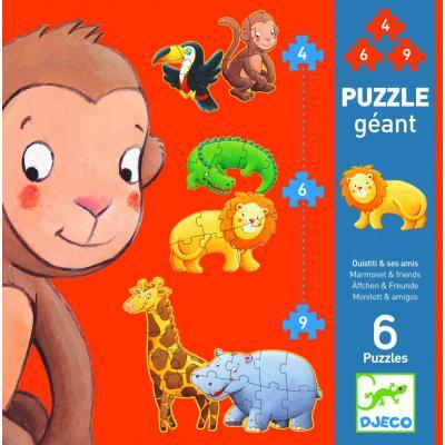 Obrovské puzzle Marmoset a priatelia
