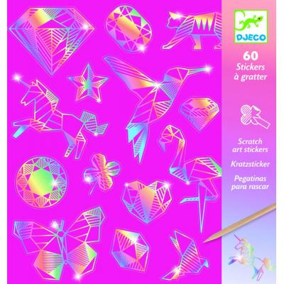 Vyškrabovacie samolepky Diamanty