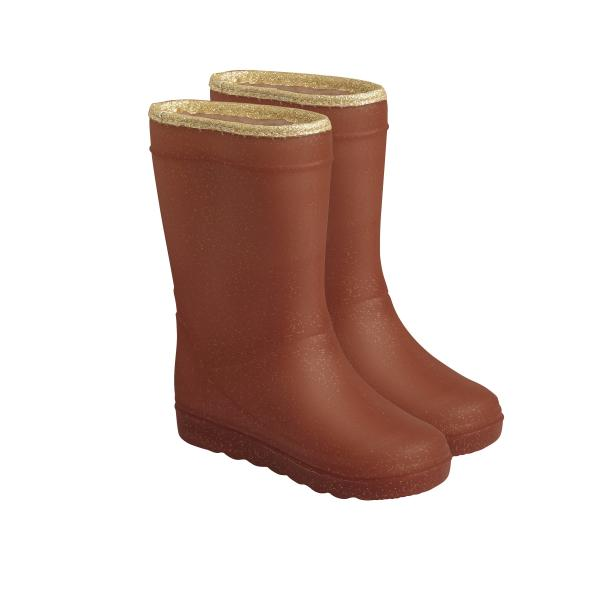 Termo čižmy ENFANT metallic leather brown NEW collection