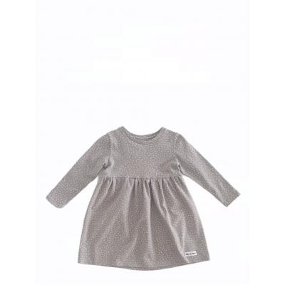 Šaty bodkované šedé
