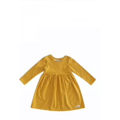 Šaty bodkované žlté