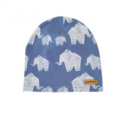 Čiapka HAPITIME - sloníky modrá