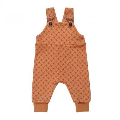 Nohavice na traky karamelové