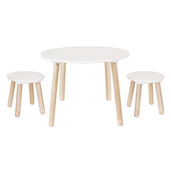Stolík + 2 stoličky Jabadabado biela