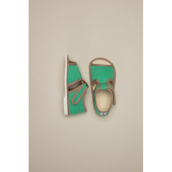 Papučky zelené Milash