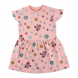 54e665a66 Koralové šaty s kvietkami Iris Small Rags