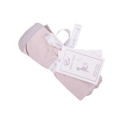 Obojstranná deka šedé zajačiky,ružové bodky 70x110 cm Effiki