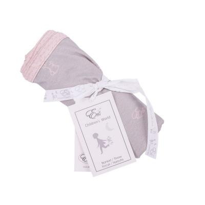Obojstranná deka ružové zajačiky,šedé bodky 70x110cm Effiki