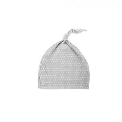 Novorodenecká čiapočka šedá/biela bodka
