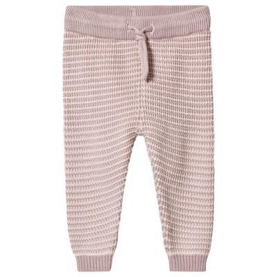 Nohavice pletené FIXONI ružové