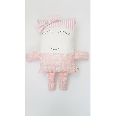 Handmade bábika ružová