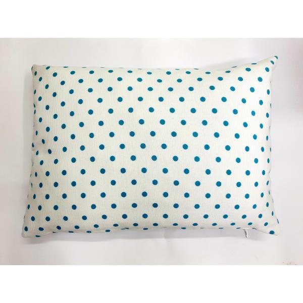 Vankúš bielo-modrý guličkový